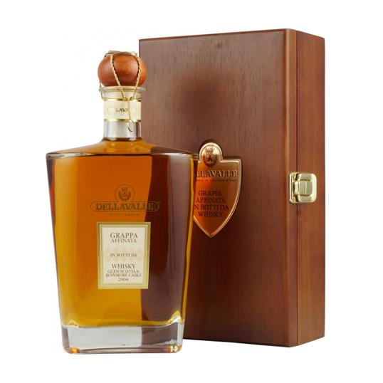 grappa della valle whiskey barrels